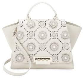 Zac Posen Eartha Iconic Floral Leather Bag
