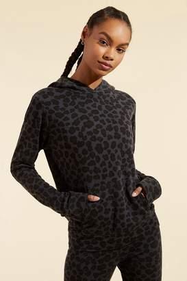 Monrow Leopard Pullover Hoody