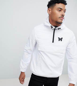 Asos Good For Nothing overhead windbreaker jacket in white exclusive to