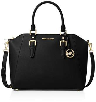 MICHAEL Michael Kors Ciara Large Leather Satchel