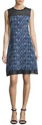Elie Tahari Ophelia Sleeveless Floral-Print A-Line Dress $498 thestylecure.com