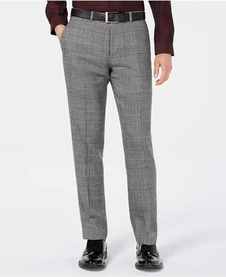 Bar III Men's Slim-Fit Black/White Plaid Suit Pants, Created for Macy's