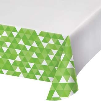 Celebrations Fresh Lime Green Fractal Plastic Tablecloth, each