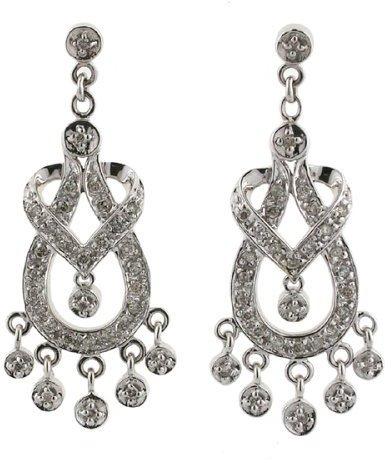 10K .50 ct. t.w. Diamond Chandelier Gold Earring