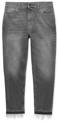 Stella McCartney Cropped Tapered Slim-Fit Stonewashed Denim Jeans