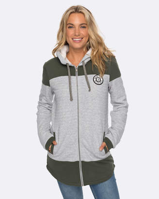 Roxy Womens Anchor Point Padded Zip-Up Hooded Jacket