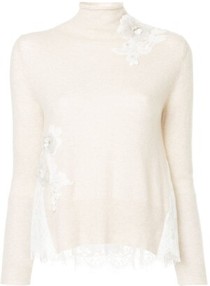 Onefifteen floral lace panel top