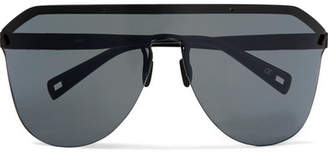 Westward Leaning Vibe D-frame Matte-acetate Sunglasses - Black
