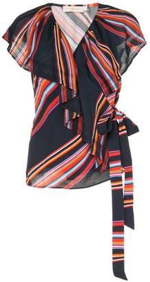 Tory Burch vivid stripe ruffle top