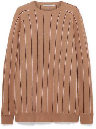 Stella McCartney Striped Wool Sweater - Camel