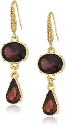 Laundry by Shelli Segal Oval Teardrop Double Drop Earrings