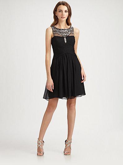 BCBGMAXAZRIA Jeweled Julissa Dress