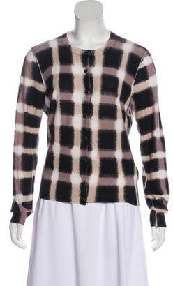 Marc by Marc Jacobs Gingham Brush Stroke Cardigan