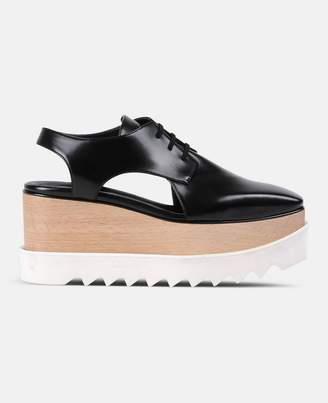 Stella McCartney black elyse cut-out shoes