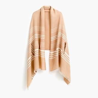 J.Crew Striped cape-scarf
