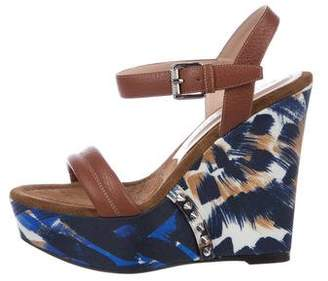 Barbara Bui Leather Platform Wedges