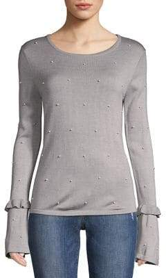 Context Embellished Bell-Sleeve Top