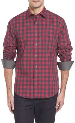 Bugatchi Slim Fit Check Sport Shirt