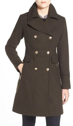 Women's Vince Camuto Wool Blend Double Breasted Officer's Coat $330 thestylecure.com