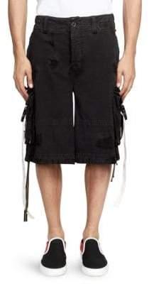 Palm Angels Cotton Cargo Shorts