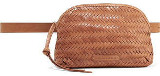 Loeffler Randall Demi Woven Leather Belt Bag - Tan