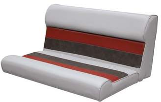 """Wise 8WD100-1012 Deluxe Series Pontoon 37"""" Bench Seat and Backrest Cushion Set Only, Color: Grey/Red/Charcoal"""