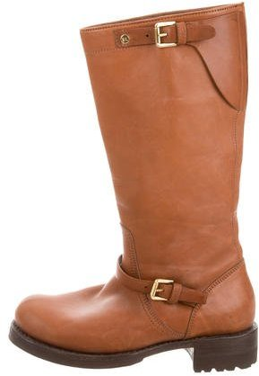 Ralph Lauren Collection Leather Mid-Calf Boots