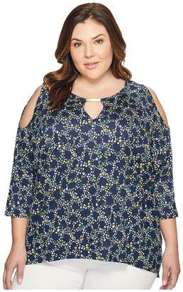 MICHAEL Michael Kors Size Elliptical Cold Shoulder Top Women's Clothing