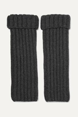 Loro Piana Ribbed Cashmere Wrist Warmers - Dark gray