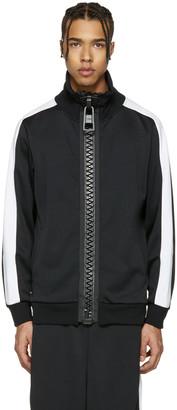 Miharayasuhiro Black Massive Zip Track Jacket $595 thestylecure.com