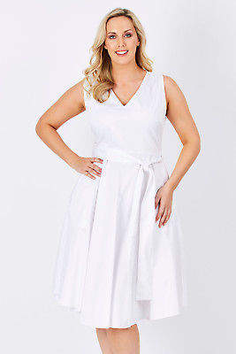 NEW bird by design Womens Calf Length Dresses The Midi Sun Dress White