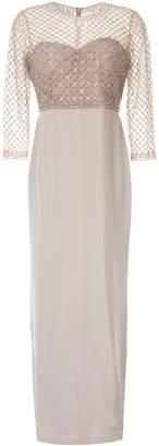 Sachin + Babi mesh-embellished gown