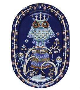 Iittala Taika Blue Serving Plate 41Cm Oval