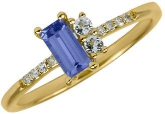 Fine Jewellery 14K Yellow Gold Ring with Topaz, Tanzanite and 0.04 CT. T.W. DiamondS