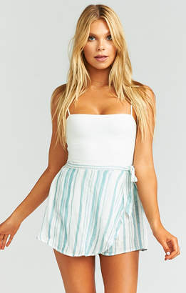 Show Me Your Mumu The Great Wrap Shorts ~ Point Dume Stripe