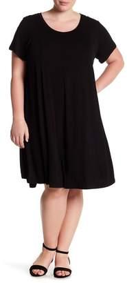 Bobeau A-Line Knit Dress (Plus Size)