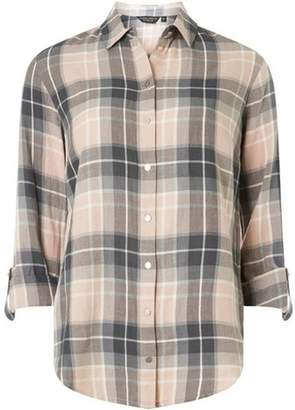 Dorothy Perkins Womens Blush and Grey Checked Shirt