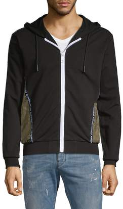 Antony Morato Colorblock Cotton Blend Fleece Jacket