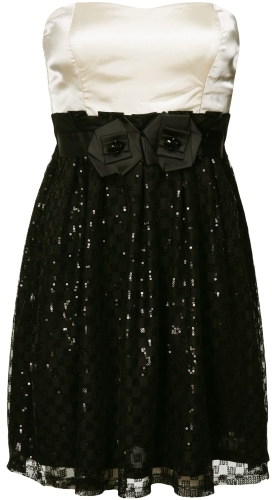 Charlotte Russe Sequin Rosette Dress