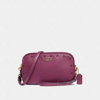 Coach Sadie Crossbody Clutch With Crystal Rivets