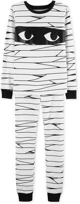 Carter's Little & Big Boys Snug-Fit Cotton Glow In The Dark Mummy Pajamas