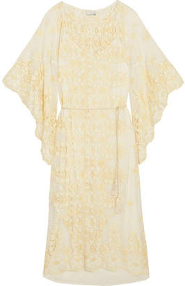 Miguelina Olivia Broderie Anglaise Cotton-blend Midi Dress - Cream