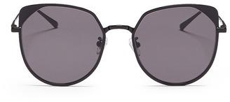 Stephane + Christian 'Jenny' flat mirror lens metal cat eye sunglasses