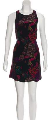 Alice + Olivia Sleeveless Floral Print Dress