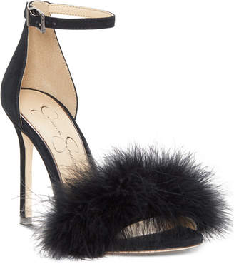 Jessica Simpson Jolinda Furry Dress Sandals Women's Shoes