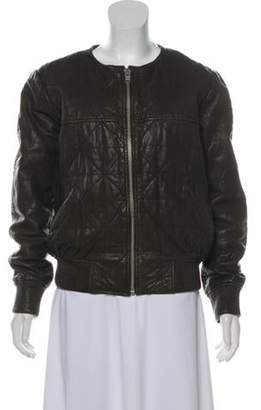 Isabel Marant Ãtoile Quilted Leather Bomber Jacket Ãtoile Quilted Leather Bomber Jacket