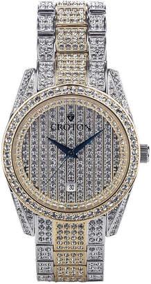 Croton N/A Womens Silver Tone Bracelet Watch-Cn207598rhpv
