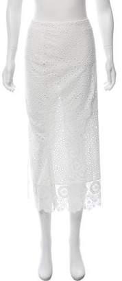 Johanna Ortiz Eyelet Midi Skirt
