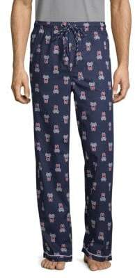 Psycho Bunny Printed Woven Cotton Pajama Pants