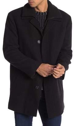 Calvin Klein Front Zip Dickey Knit Coat